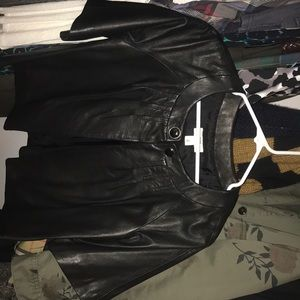 Ann Taylor Cropped Leather Jacket